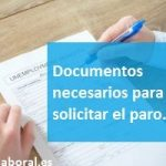 Documentos necesarios para solicitar el paro