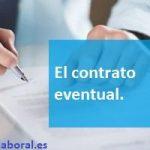 El contrato eventual